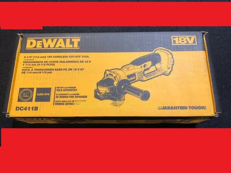 Dewalt DC411B 18V Cordless XRP 4-1/2 in. Cut-Off Tool Kit