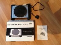 Single hot plate stainless steel mini hob like new