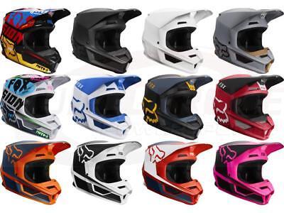Fox Racing V1 MVRS Helmets Motocross Off-Road MX/ATV/MTBike Adult Sizes 2019 - Off Road Racing Helmets
