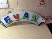 Childs name plaque