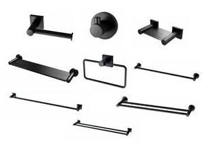 New Phoenix Onix Matte Black Radii Bathroom Accessories Range Melbourne CBD Melbourne City Preview
