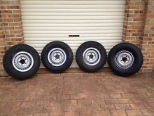 Toyota Landcruiser 5 stud wheels/tyres (x4) Wollongong Wollongong Area Preview