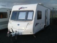 2008 Bailey pageant monarch 2 berth end changing room with fitted mover
