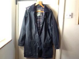 Waxed , navy jacket