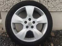 17INCH 5/110 VAUXHALL ALLOY WHEELS WITH GOOD TYRES FIT MOST MODELS