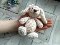Crochet Easter Rabbit Photography Prop, New Handmade Item