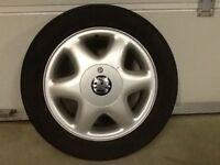 15INCH 4/100 VAUXHALL ALLOY WHEELS WITH TYRES FIT MOST MODELS