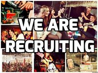 Bartenders, Waiting Staff, Bar Support and Hosts!