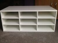 White shelving unit (IKEA)