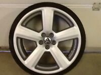 19INCH 5/100 RS6 ALLOY WHEELS WITH TYRES FIT VW AUDI CITREON SEAT ETC