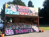 Sweet Trailer for sale perfect for festivals shows galas ect all stocked up ready to trade
