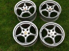 Porsche 18'alloy wheels ( needing refurbished)