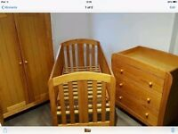 Mamas & Papas Fern (Pine) Nursery Furniture Set Great condition £150 ono for quick sale!