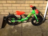 "Carrera coast balance bike with 12"" wheels - used twice"