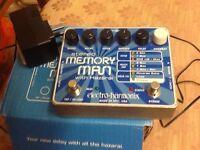 Electro harmonix memory man with hazarai pedal