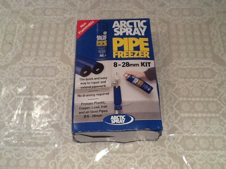 Artic spray pipe freezing kit