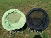 Gelert portable Moon chairs, ideal for camping, beech, concerts etc