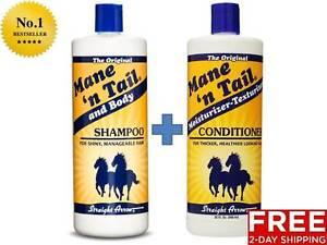 MANE N TAIL HORSE HUMAN SHAMPOO STRAIGHT ARROW HEALTHY SHINY THICK HAIR VOLUME