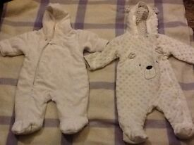 2 0/3 month pram suits