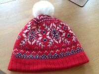 Jack Wills fair isle wool bobble/beanie hat