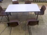 infant toddler desk with 6 chairs/ very sturdy
