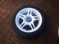 """Set of 4 white 15"""" TSW blade alloy wheels"""
