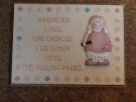 Lovely wall plaque