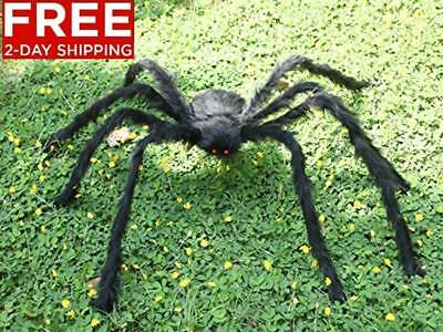 New 5 ft Huge Halloween Outdoor Decor Hairy Giant Spider Decorations For Party - Giant Spider Decorations For Halloween