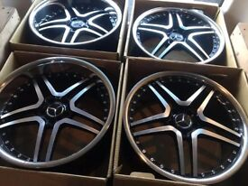 22 inch mercades benz alloy wheels for more information call 07923203196