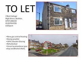 To Let - 2 Bed Cottage high street(close to spar shop) Brotton £425pcm