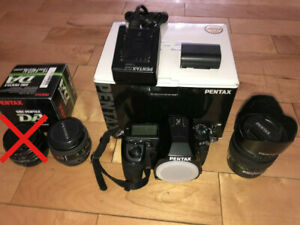 Pentax K5 semi-pro DSLR with limited lenses