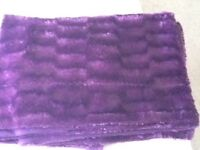 Faux fur double throw and matching cushion cover