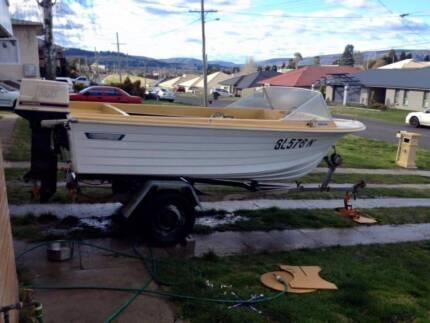 A fiberglass boat