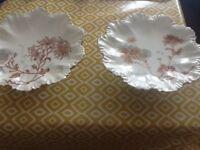 Limoges pedestal cake plates