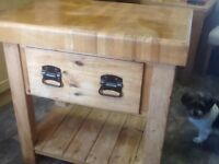 Kitchen block sold wood with storage in good condition ideal for a island