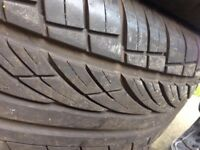 Pair of 2 255/60/R18 tyres both like new
