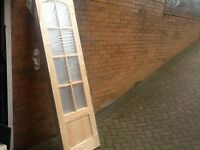 BN CLEAR GLASS PINE INTERIOR TWO FRENCH DOORS