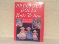 Precious dolls to knit and sew book.