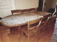 Six Seater Extendable Table and Chairs