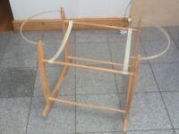 Solid wood,sturdy Moses basket sideways rocker stand-£10