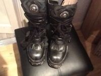 """New Rock """"Reactor"""" Boots size 37 worn once"""