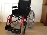 Wheelchair, Breezy by Quickie, self propelling lightweight folding chair