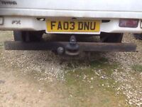 Tow bar free to collector, ring number in ad description