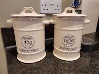Two Pride of Place Storage Jars - Tea and Coffee Jars
