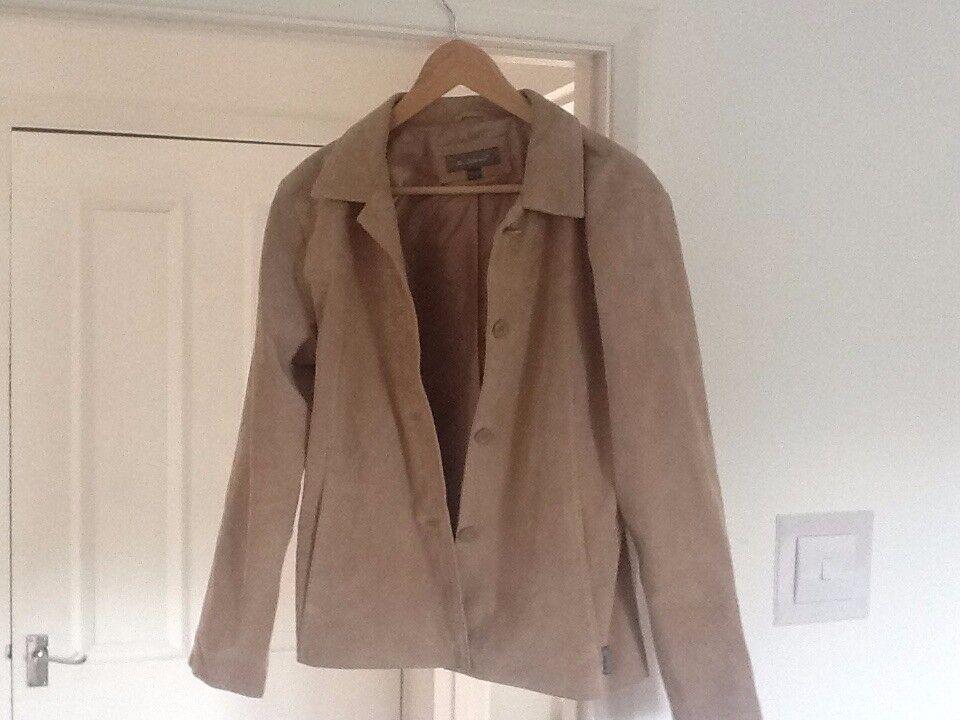 Womans leather jacket Ben Sherman size 14