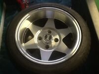 DEEPDISH ALLOY WHEELS WITH TYRES
