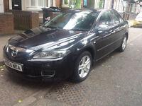 Mazda 6 2006 (55) reg 1.8 petrol Black with chrome mirrors and handles . Good Runner!