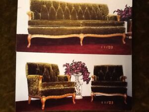 Antique French Provincial Sofa & Arm Chairs