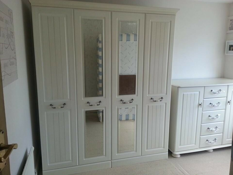 Three piece cream bedroom furniture set! Very reluctant sale!