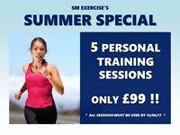 5 PERSONAL TRAINING SESSIONS FOR ONLY £99!!